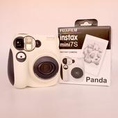 富士mini7s熊猫 一次成像套餐含拍立得相纸lomo自拍相机 Fujifilm