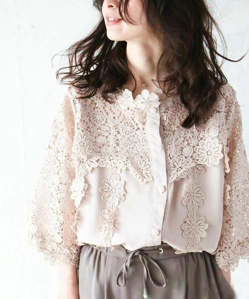 韩国花朵衬衫