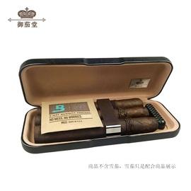 御茄堂雪茄便携保湿盒旅行皮套69保湿包袋片密封醇化烟盒剪刀套装图片