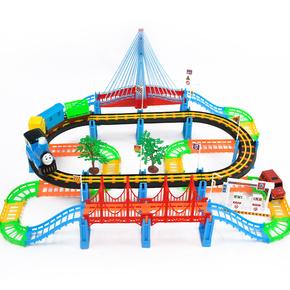 翻滚岛机器人电动合金岁带儿童套装配件和音乐绘本托马斯小火车