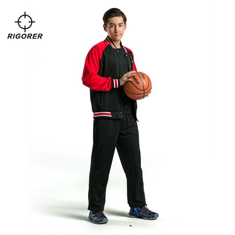 准者篮球出场服套装男 春长袖卫衣外套 背面DIY印字训练服出场服