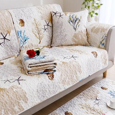 纯棉布艺沙发罩四季通用型防滑全棉坐垫简约现代全包萬能套全盖巾