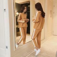 休闲套装女装2018春秋季新款韩版学生百搭一套衣服运动时尚二件套