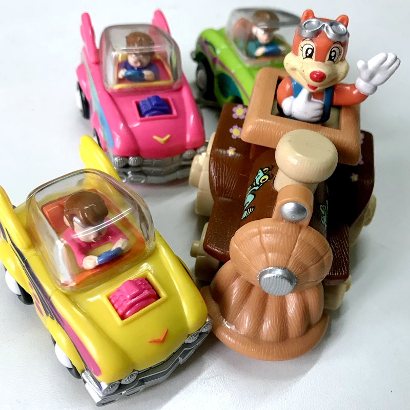 顺手带Export children's clockwork inertia toy car set of 4 baby go out portable