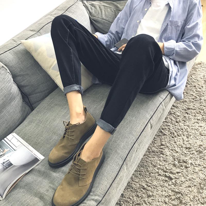 薄款牛仔小脚裤