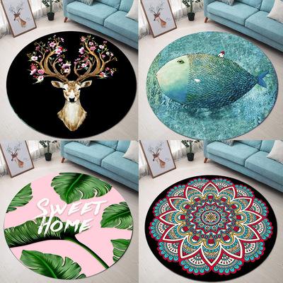 圆地毯客厅