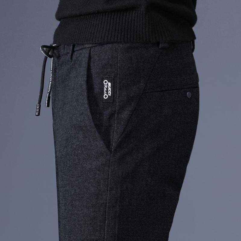 男深蓝长裤