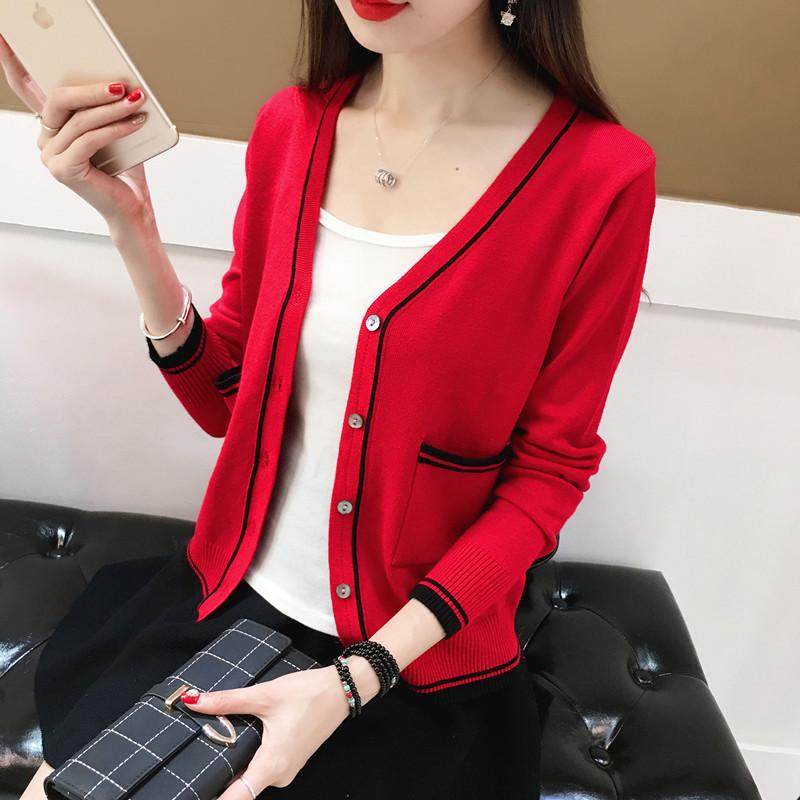 红针织披肩外套