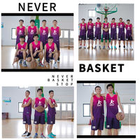 Basketball clothing suit male custom college students training team service group buy printing winter children's shirt blue ball suit