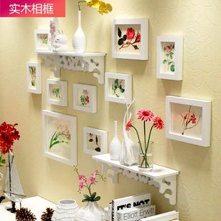 饰画创意组合卧室客厅挂墙相框地中海相片墙 欧锋欧式守菊掌墙装