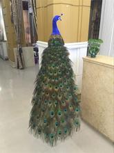 Simulated peacock sample model handicraft household living room window decoration wedding photography props package