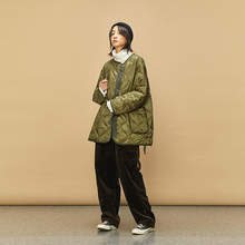 OPIC QUILTING JACKET 18AW OPICLOTH 斜门襟绗缝间棉内胆棉服