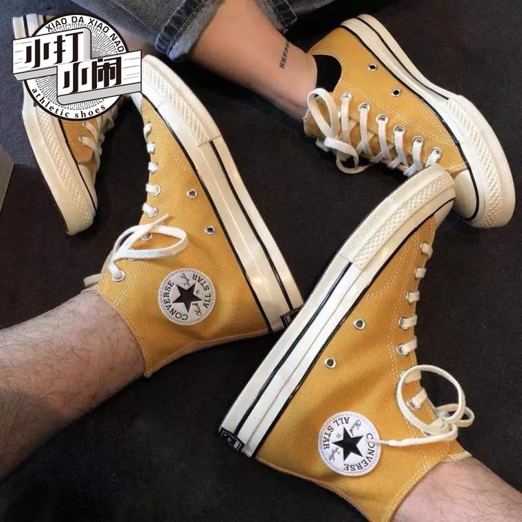 Converse匡威1970s黄色低帮高帮帆布鞋男鞋女鞋 162063C 162054C