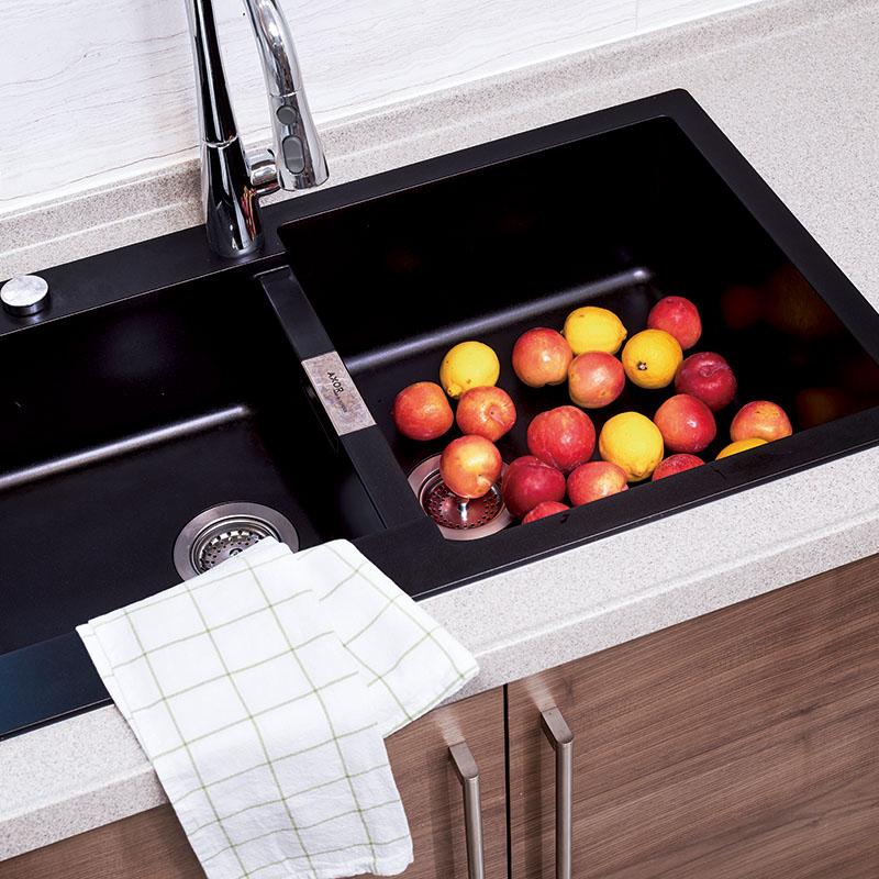 佐必林北美黑胡桃木整体橱柜定制厨房橱柜整装橱柜门橱柜置物架