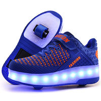 Heelys shoes student boys and girls two-wheel flashing lights pulley children's shoes deformation shoes charging shoes with wheels
