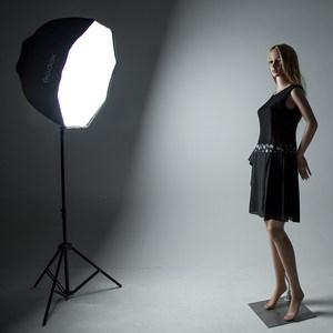 神牛八角柔光箱80cm伞式便携柔光罩闪光灯柔光摄影箱反射柔光布罩