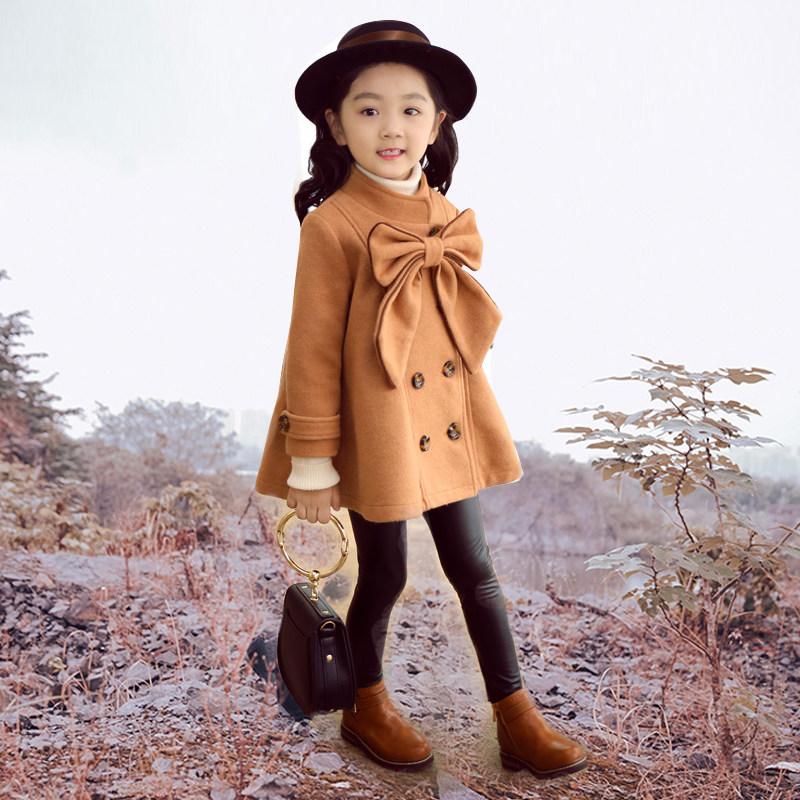 女童装毛呢外套韩版2018新款秋冬公主宝宝儿童呢子大衣洋气冬装男
