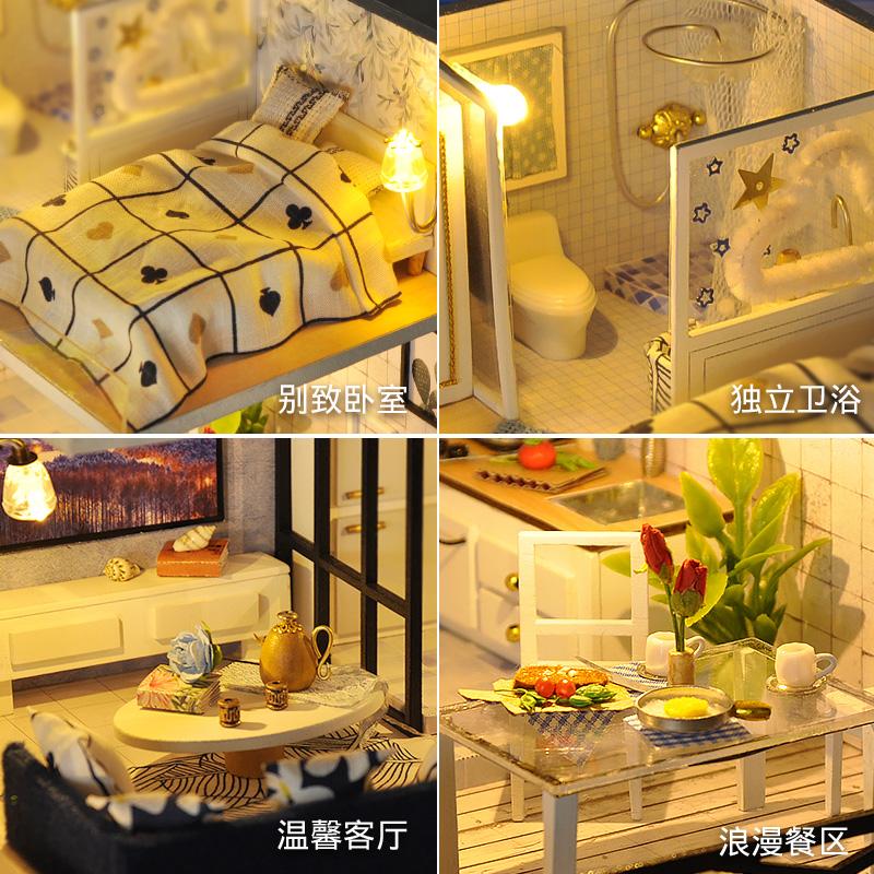 diy小屋阁楼别墅手工制作小房子模型拼装创意中国风生日礼物女生