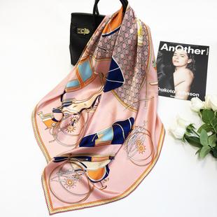 真丝丝巾披肩 皇室风法式优雅100%桑蚕丝南瓜马车大方巾女高端时尚