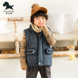 Essina children's autumn and winter down horse armor boys white duck down down can shoulder vest baby loaded horse clip plus thick coat