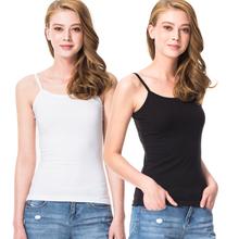 (2件装)三枪背心吊带女莱卡棉修身显瘦打底衫女背心吊带衫30714图片