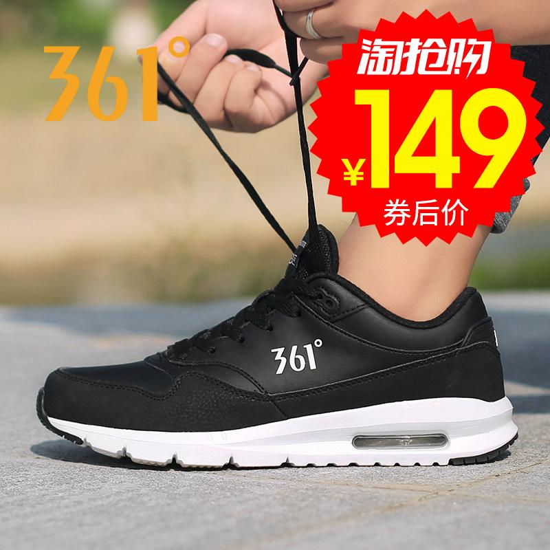361男鞋秋季气垫运动鞋子361度男士冬季正品透气轻便休闲黑跑步鞋