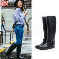 时尚高筒女士雨靴成人雨鞋长筒防水防滑加绒水鞋高帮韩国马靴潮
