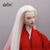 Single point proofing can be customized BJD doll wig 3 cents beauty point antique hook hair in the middle