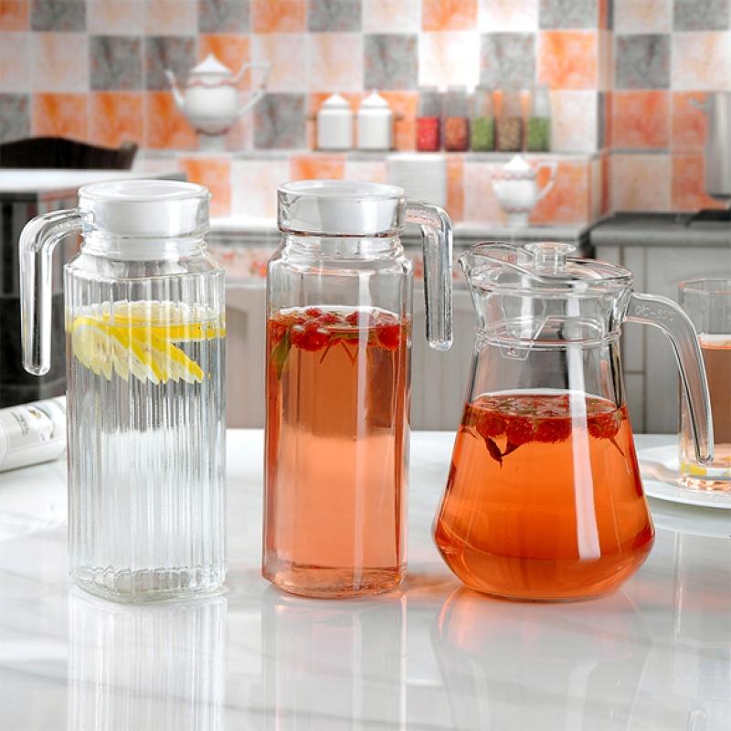 1.3升家用玻璃水壶冷水壶夏季凉水壶扎壶大容量凉水杯果汁壶