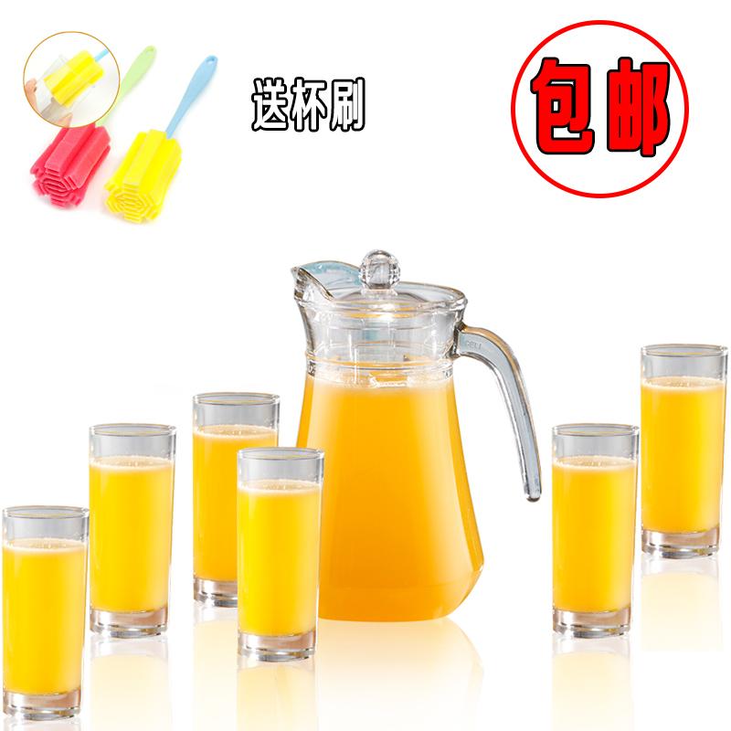 家用玻璃凉水壶加厚水壶冷水壶大容量扎壶果汁壶扎啤壶水具套装