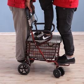 老人助行器偏瘫康复学步车老年人走路辅助器械助力架多功能站立。图片