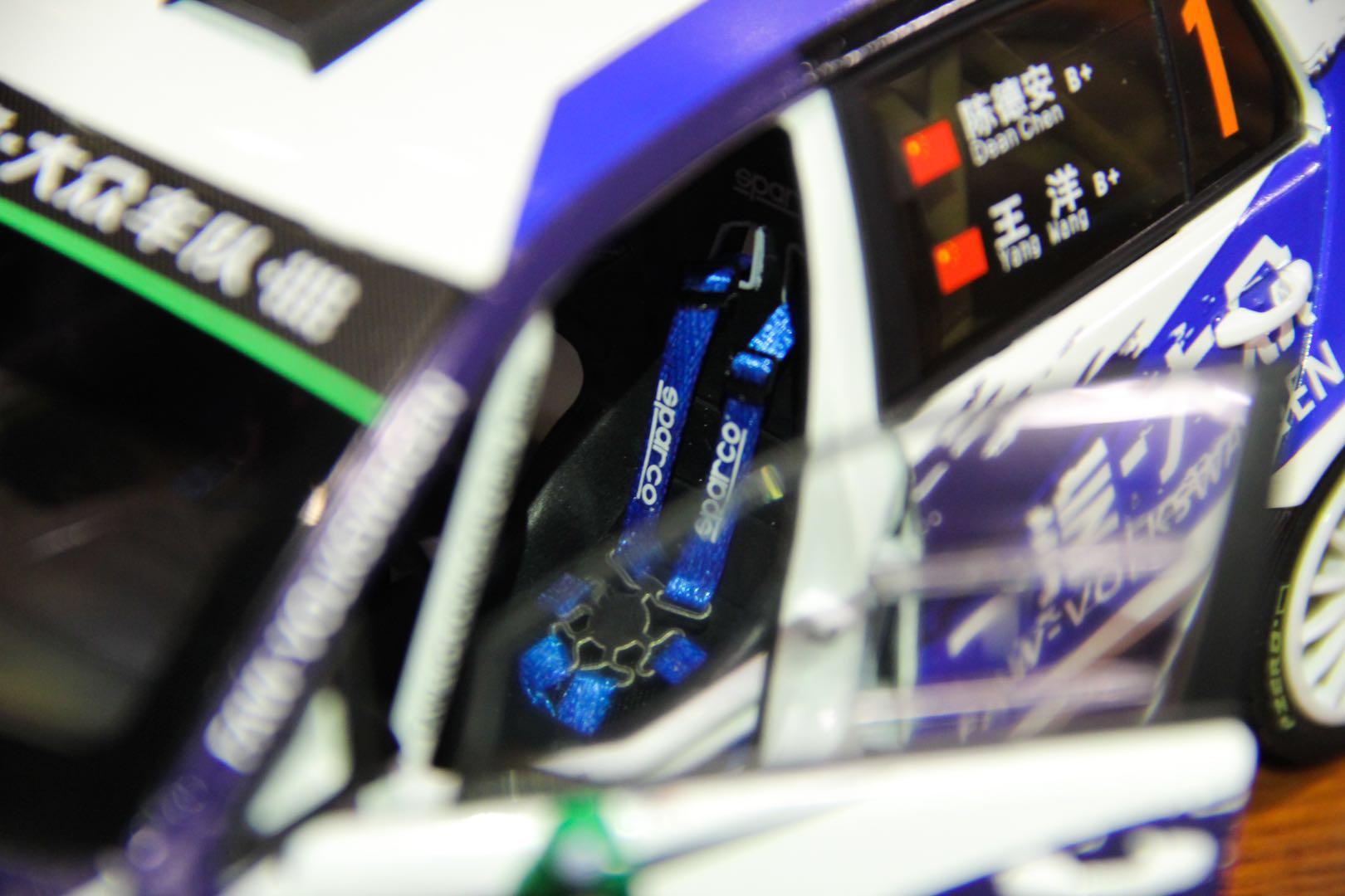 高尔夫 高尔夫7 高7 CRC 赛车模型 1::18模型 一汽大众 德安汽车