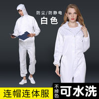 Clean clothing, one-piece hood, anti-static dustproof clothes, work clothes, female, male body, breathable industrial dust protection