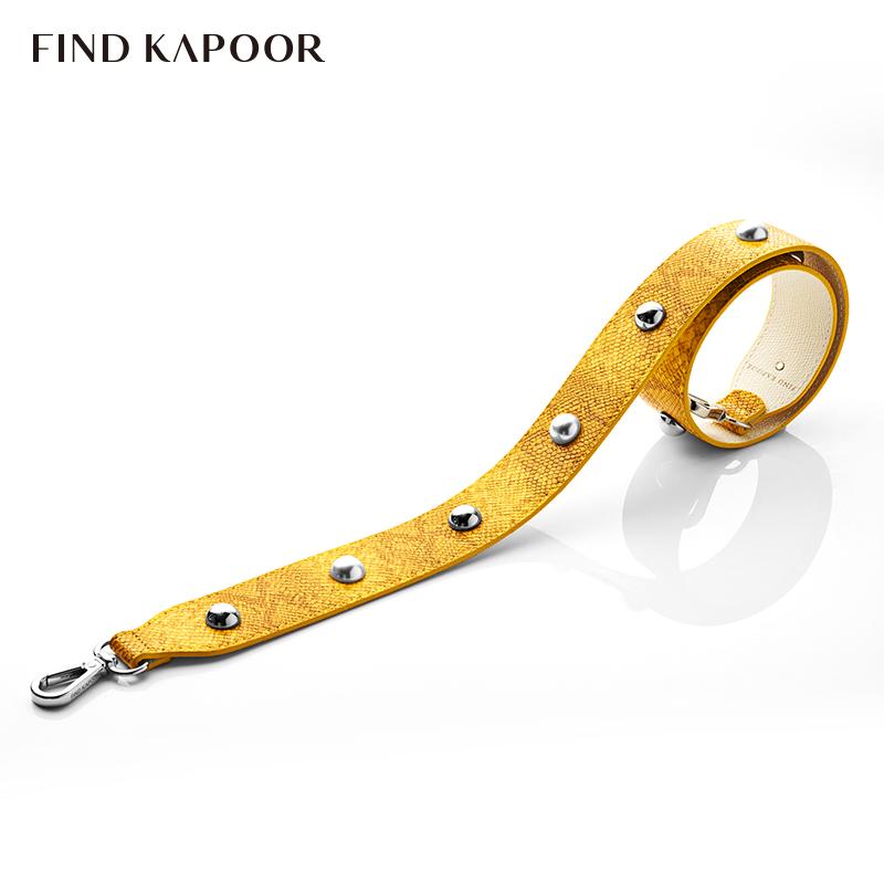 FIND KAPOOR梵德卡普尔时尚女包单肩斜挎女水桶包FKR珍珠肩带黄白