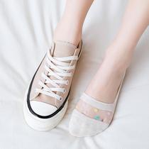 棉质女士袜子可爱日先刑袜低帮防滑船袜春季薄款浅口隐形女袜潮