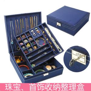 頭飾品耳環收納盒小精致發卡項鏈家用分類耳飾盒子珠寶首飾超大
