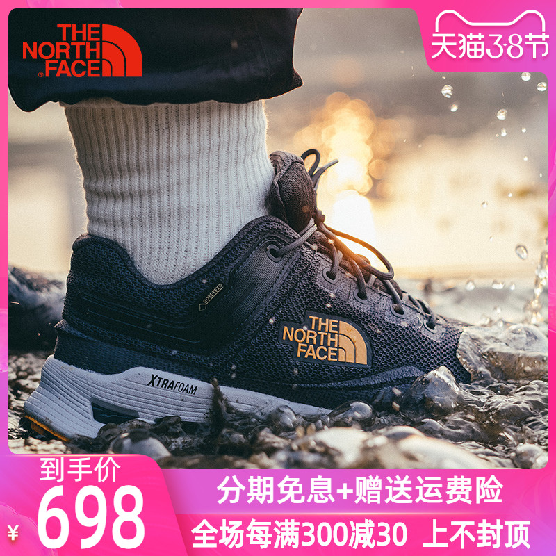 TheNorthFace北面男鞋夏 户外徒步鞋GTX防水透气耐磨登山防滑3RDE