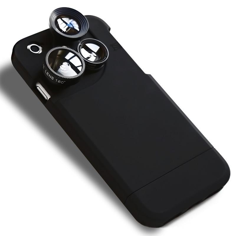 適用iPhone7s手機鏡頭8plus廣角微距魚眼增距6代四合一鏡頭手機殼