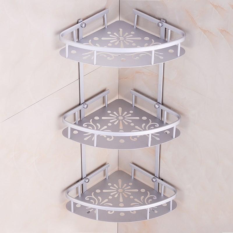用品置物架三角形浴室间三脚架墙上打孔