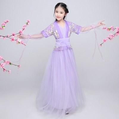 幼儿童古装女童汉服小孩女孩古代貂蝉cos衣服琵琶古琴表演出服装