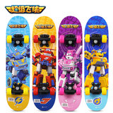 Super Flying Man Child Four Wheels Skate Boys and Girls Double Skateboard Kids Toys Beginners Entry Level Short Board