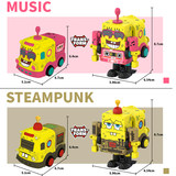 Type alloy plate deformation car gold sponge baby toy model set doll boy belongs to robot classic expression