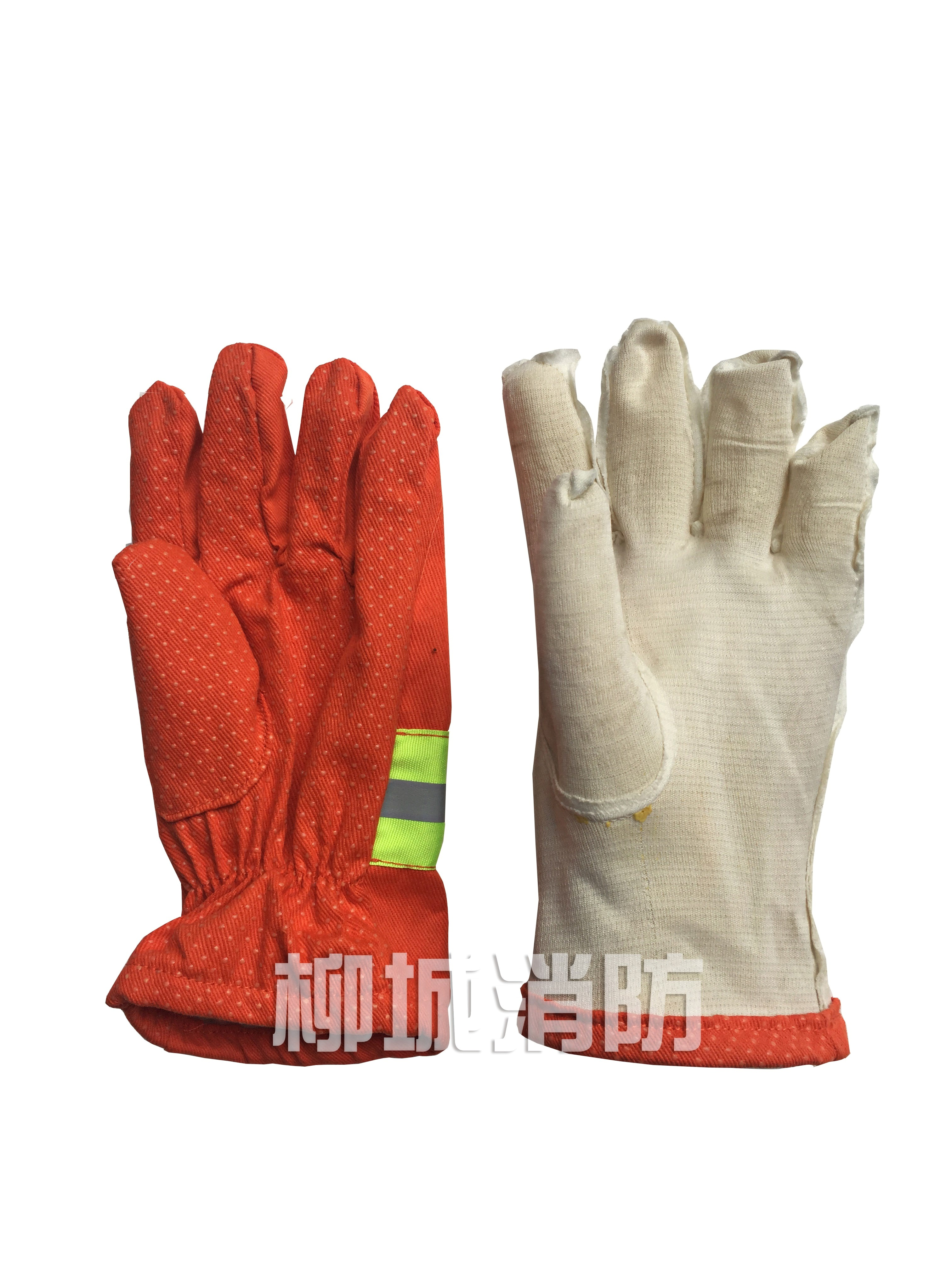 隔热手套防滑长胶手套防护防布手套阻燃物流快递防水消防邮管局