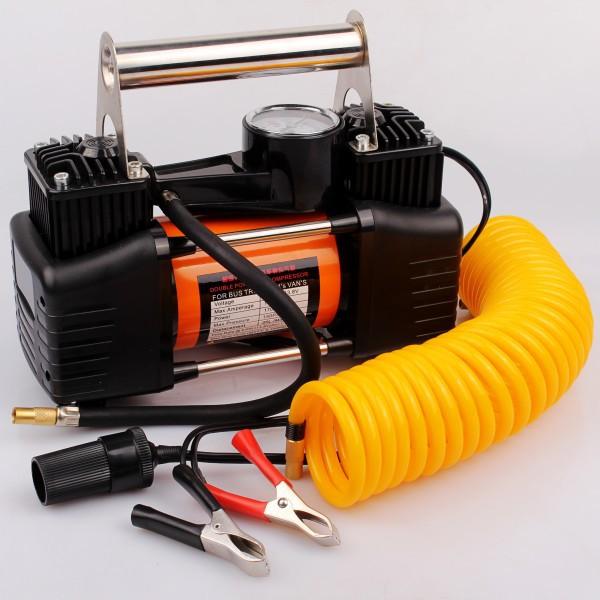 汽车用打气泵车载充气泵轮胎加气12v双缸便携式小轿车高压多功能