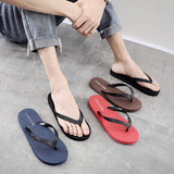 Flip-flop male fashion wear Korean version of the summer sandals and slippers men's students flat non-slip casual beach shoes
