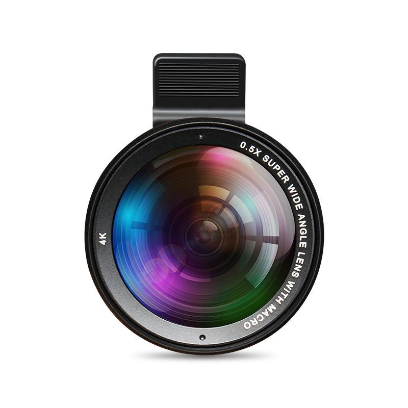 2019适用iphoneX华为05X无畸变手机广角镜头美颜瘦脸15倍微距镜