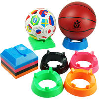Ball support basketball base round ball bracket placement bracket acrylic football soccer ball seat