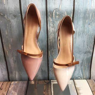 猫跟鞋女鞋春夏2019新款高跟鞋细跟韩版百搭爆款尖头单鞋中跟凉鞋