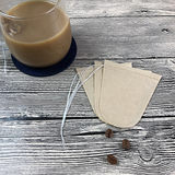 Coffee filter paper 100 pieces HAND-PUNCHED coffee filter bag household circular coffee filter fan-shaped filter paper