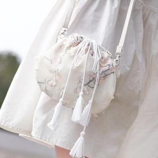 荷包包袋四季女生初中生夏季时尚大容量汉服小包斜挎百搭绣花随身
